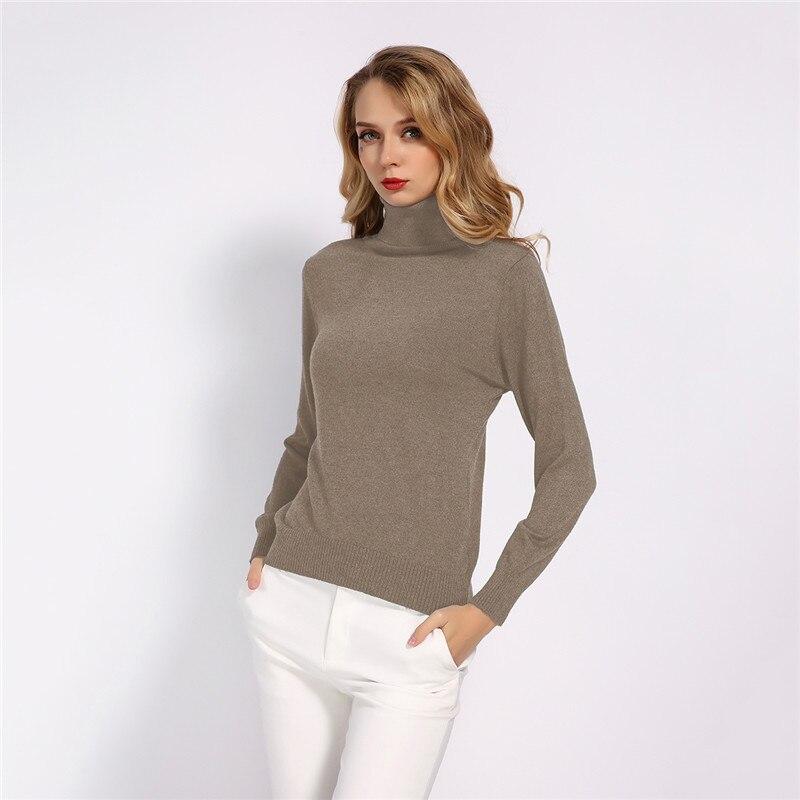 GCAROL New Fall Winter 30% Wool Turtleneck Sweater Soft Handle Warm Women Jumper OL Render Knit Pullover S-3XL 11