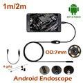 1 M 2 M Android Telefone USB Endoscópio Câmera À Prova D' Água Cobra Tubo de inspeção Da Tubulação Câmera Android Telefone USB Endoscópio Endoscopia