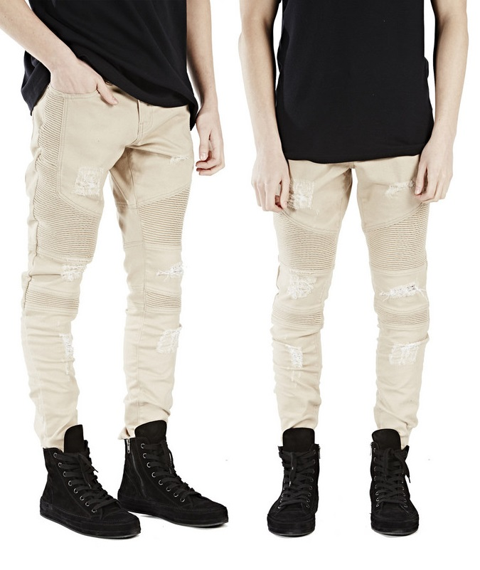 High Quality Kanye West Distressed Jeans-Buy Cheap Kanye West ...