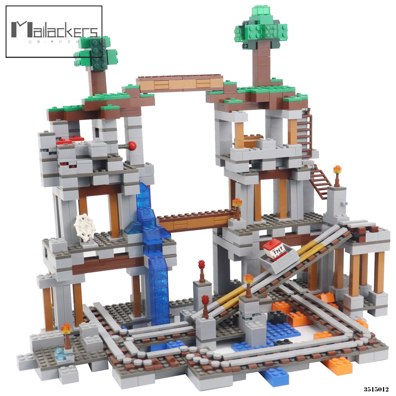 Mailackers Minecrafted The Mine 922Pcs Bricks My World Model Set Building Blocks Kids Toys For Children