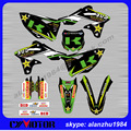 KLX250 K 2008 2009- 2015 NUMBER 3 GREEN BACKGROUND MOTORCYCLE 3M GRAPHICS DECALS STICKERS KITS OFF ROAD MOTORCROSS