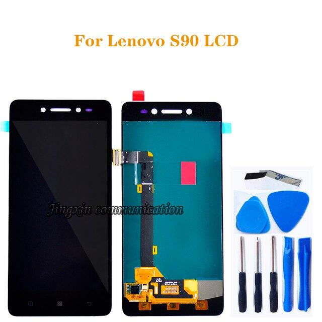 """5.0 """"עבור Lenovo S90 LCD + מסך מגע digitizer החלפת רכיב עבור Lenovo s90 T S90 U S90 A LCD תצוגת תיקון ערכת + כלים"""