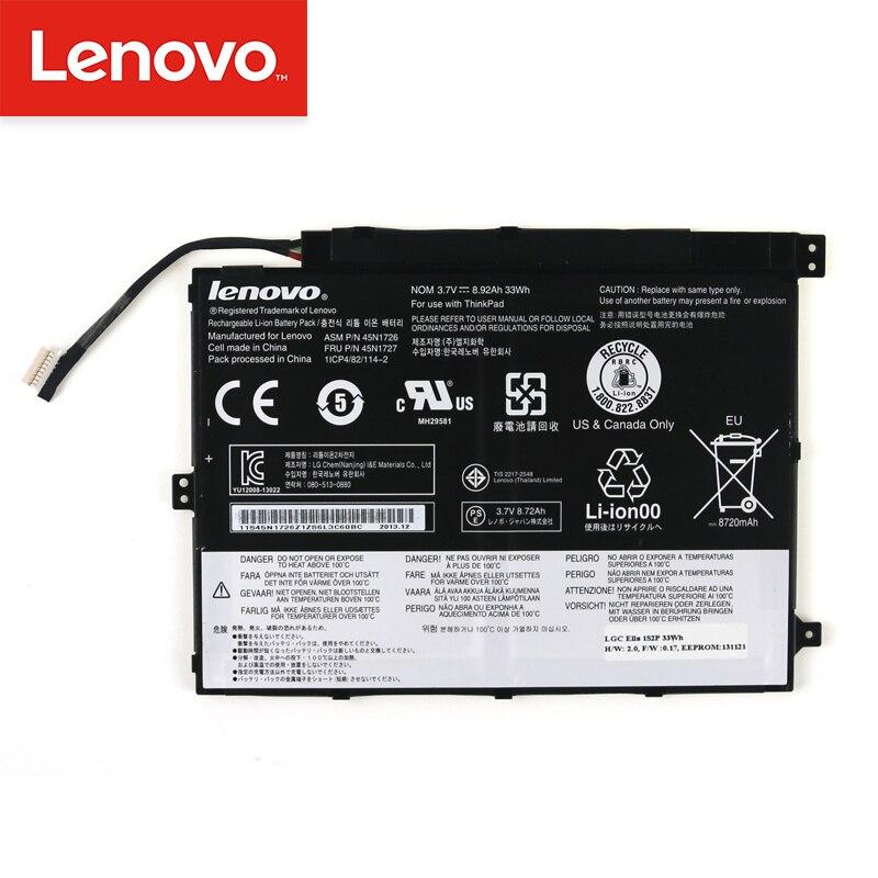 Original batterie d'ordinateur portable Pour Lenovo ThinkPad Tablet 10 45N1732 45N1733 45N1726 45N1727 1ICP4/83/113 45N1728 45N1729