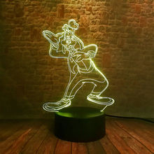 Luminous Goofy Dog Anime Model 3D Illusion Lamp LED 7 Colorful Change Light Mickey Family Cartoon Figure Toys for Boys Party