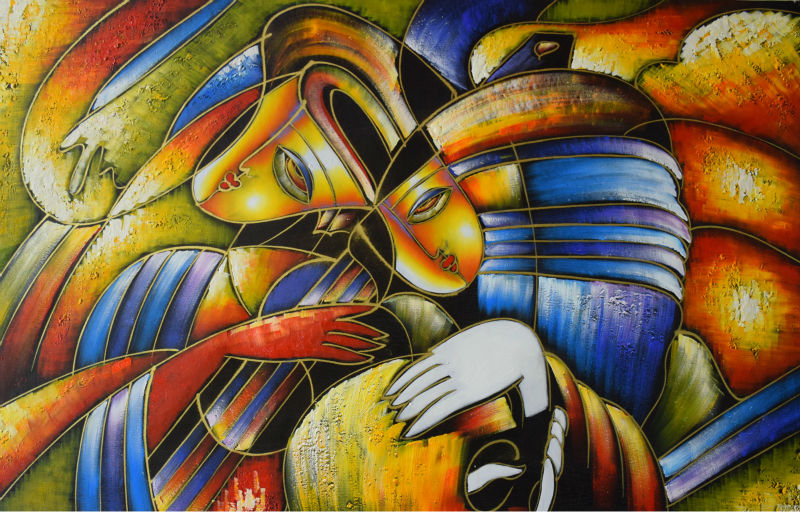 Hand Painted Abstract Oil Painting on Canvas Modern Famous