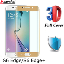 hot deal buy 3d curved full cover tempered glass for samsung galaxy s6 edge plus for samsung s6 edge 9h screen protective glass film case