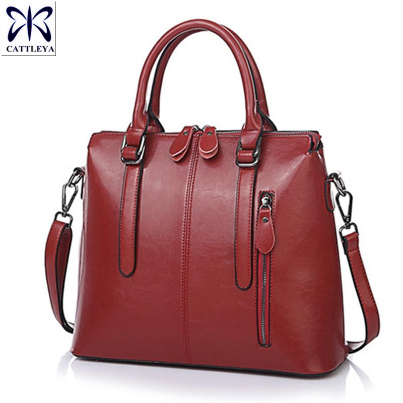Hot 2017 Real Genuine Leather Bags Women Handbag Fashion Designer Bag Brand High Quality Ladies Messenger Leather Shoulder Bag