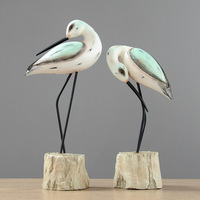 European Resin Couple Crane Decor Crafts For Home Office Cabinet Ornaments Furnishing Gift