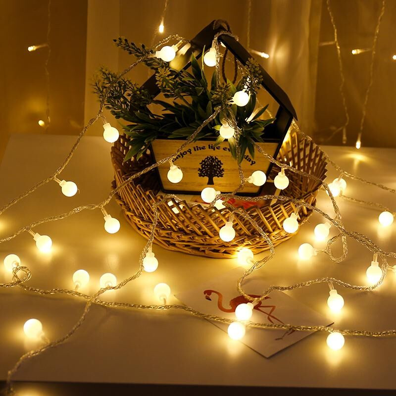 New 1.5/2/3/4/5/10M/20M 80/160 LED Holiday Fairy Garland Ball String Lights Globe Wedding Home Decoration Battery Rope Lights