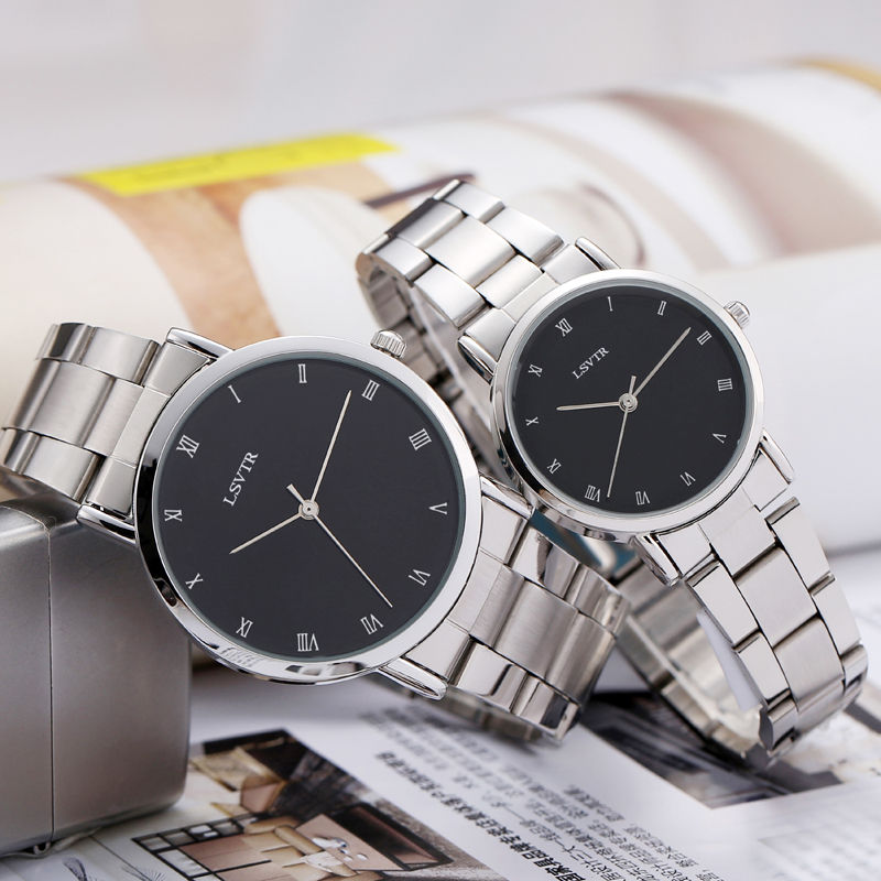 Korean version of the fashion simple tide watch men and women students waterproof couple table women table casual retro men's wa
