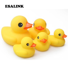New cute water toys Large Medium Small Yellow Rubber Duck Baby Bath Toy Classic Bath Toy Pool Rubber Floating rubber duck 2019 new classic baby bath floating rubber duck toy cute unicorn frog sailor bath toy birthday party dress toy