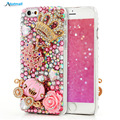 3D Блеск Роскоши Diamond Case For iPhone 4 4S 5 5S 5C 6 6 S плюс Bling Задняя Крышка Для Samsung Galaxy S5 S6 Edge Plus Note 5 A8