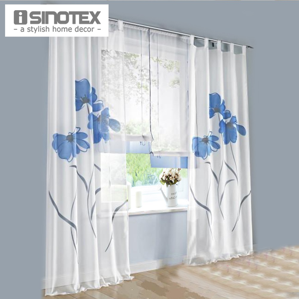 Buy european style handmade flowers for Window voiles