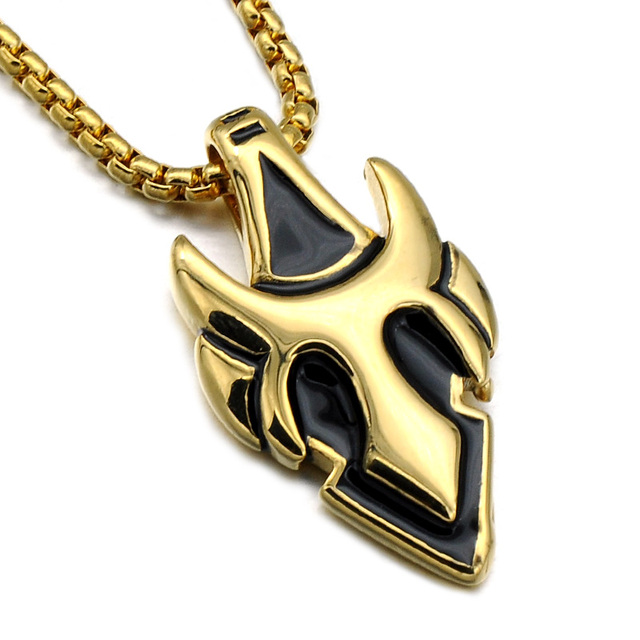 Hip punk mens heart pendants necklaces cool goldsilver titanium hip punk mens heart pendants necklaces cool goldsilver titanium stainless steel chain anime necklace mozeypictures Image collections