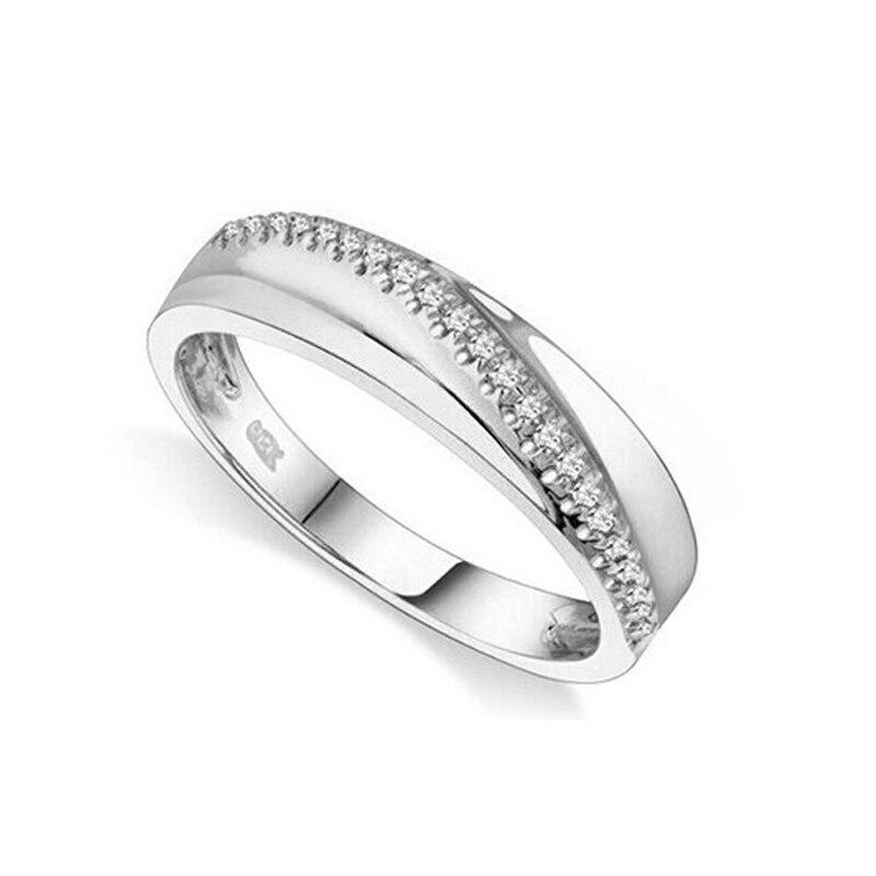 แหวนคนรักแหวนเพชรแท้สำหรับเครื่องประดับ Vintage ธรรมชาติเพชร 14 k สีเหลืองทองหมั้นงานแต่งงานแหวน-ใน ห่วง จาก อัญมณีและเครื่องประดับ บน   2