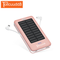 Tollcuudda Solar Power Bank 10000mAh Dual Line LED Portable Charger External Battery Powerbank For Xiaomi 2