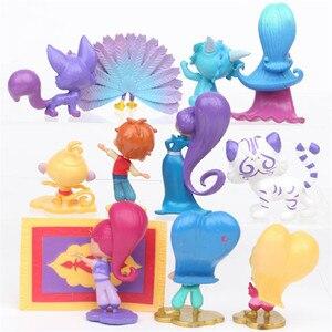 Image 3 - 12Pcs/Set Shimmer Sister Action Figure Toys Samira Pet Tiger Nahal Monkey Dragon Dolls Toys Cute Shine Girl Christmas gift 7CM