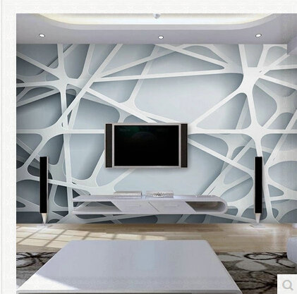 Abstract wallpaper mural for living room office papel for Papel mural living comedor