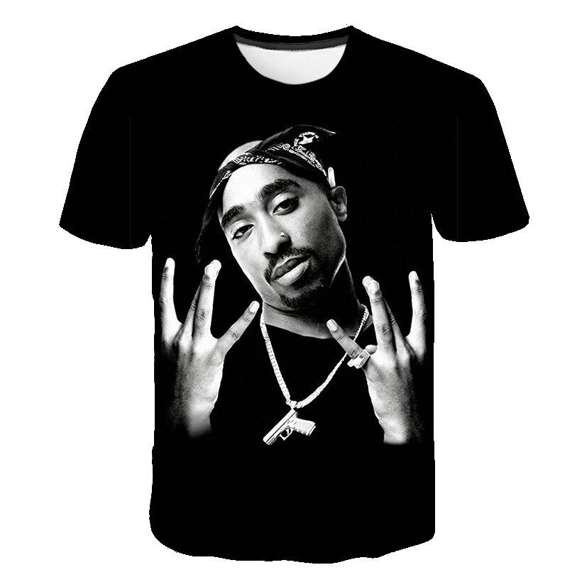 2019 new size Men Women Print Tupac 2pac   T  -  shirt   Short sleeve O-Neck Tshirt Hip Hop Swag harajuku Streetwear   T     shirt