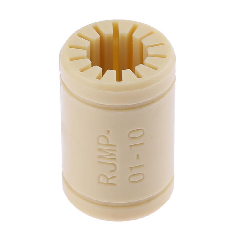 1pcs   Solid Polymer LM10UU Bearing 10mm Plastic Shaft RJ4JP-01-10 For DIY   RepRap Prusa Mendel 3D Printer