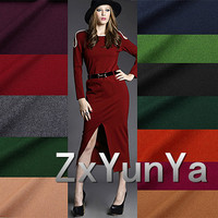 Elegant Elegant Quality Of The Flange Of The Cloth Thin Wool Fabric Suit Dress