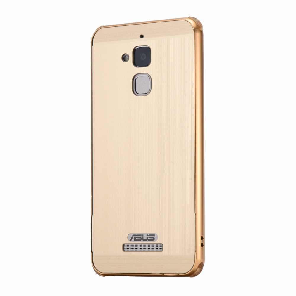Funda de teléfono para Zenfone3 max ZC520TL marco de aluminio de Metal con cubierta trasera cepillada funda dura para Asus Zenfone3 max ZC520TL
