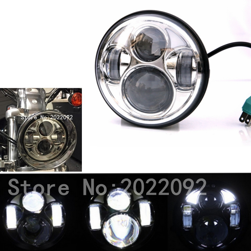 ФОТО 5.75 5 3/4 Motorcycle Projector LED Light Bulb Headlight For Harley Day