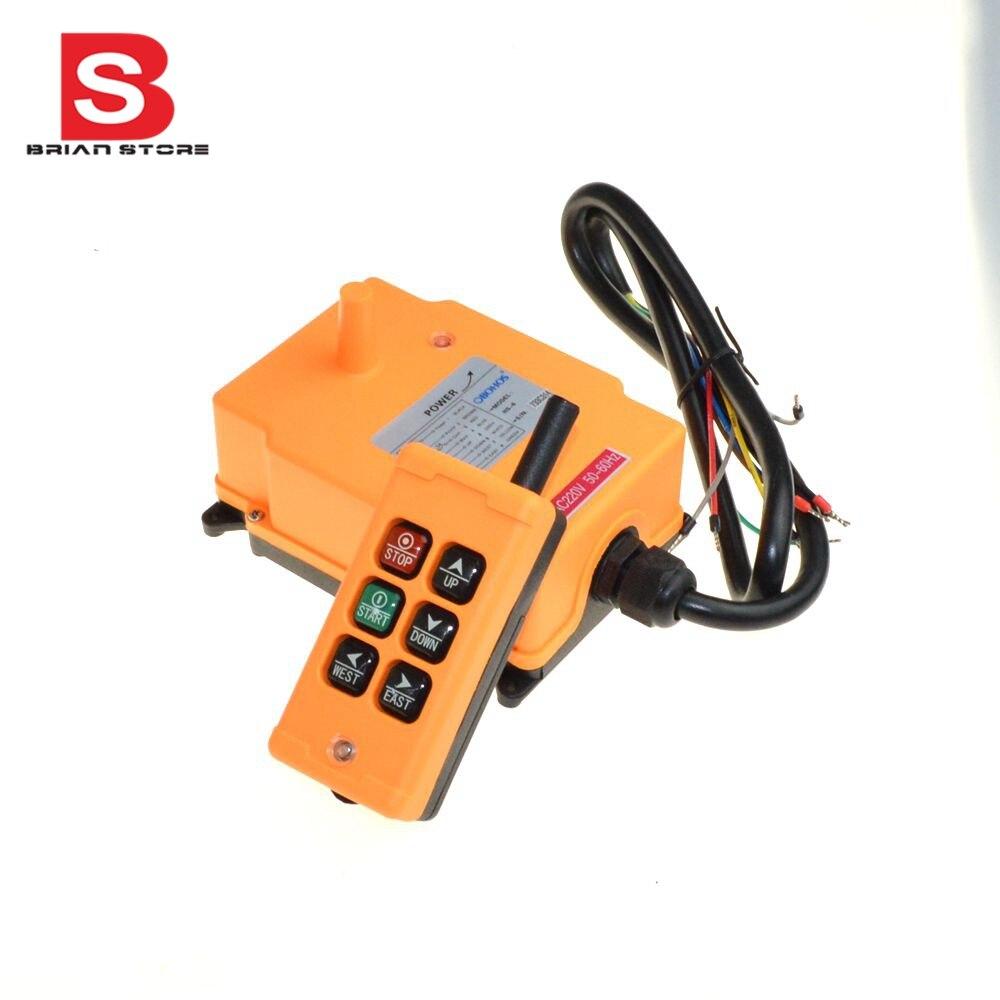 110VAC 6 каналов 1 передатчик 1 скорость управление Подъемный Кран Радио дистанционное управление системы
