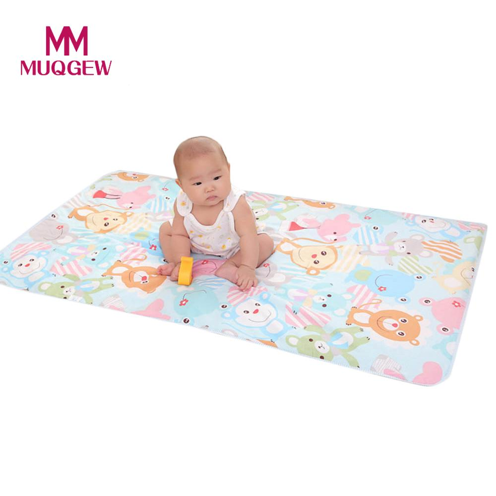 Mattresses Baby Mattresses For Girls Boys Cartoon Cotton Soft Cute Urine Pad Infant Diaper Waterproof Bedding Changing Cover Pad 2pcs