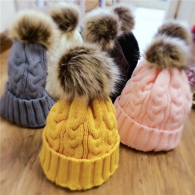 Häkeln Hüte Für Kinder Mädchen Jungen Winter Hut Haar Ball