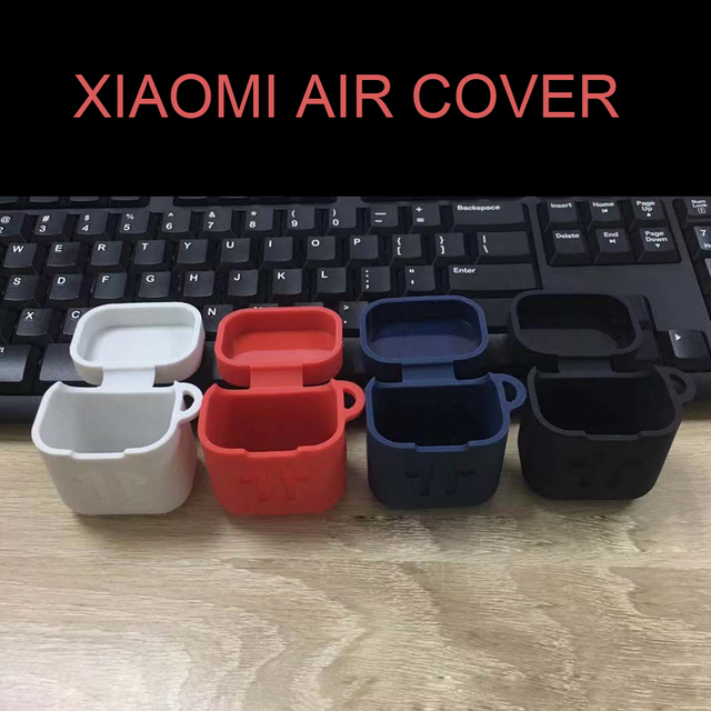 Silicone Hook-proof life earphone cover with hook for xiaomi Bluetooth headset air protection cover Accessory cases