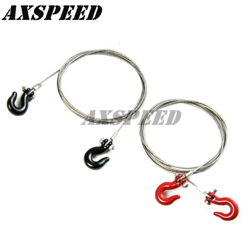 Steel wire rope hook Tow Wire w/ Metal Hooks Tow Rope For