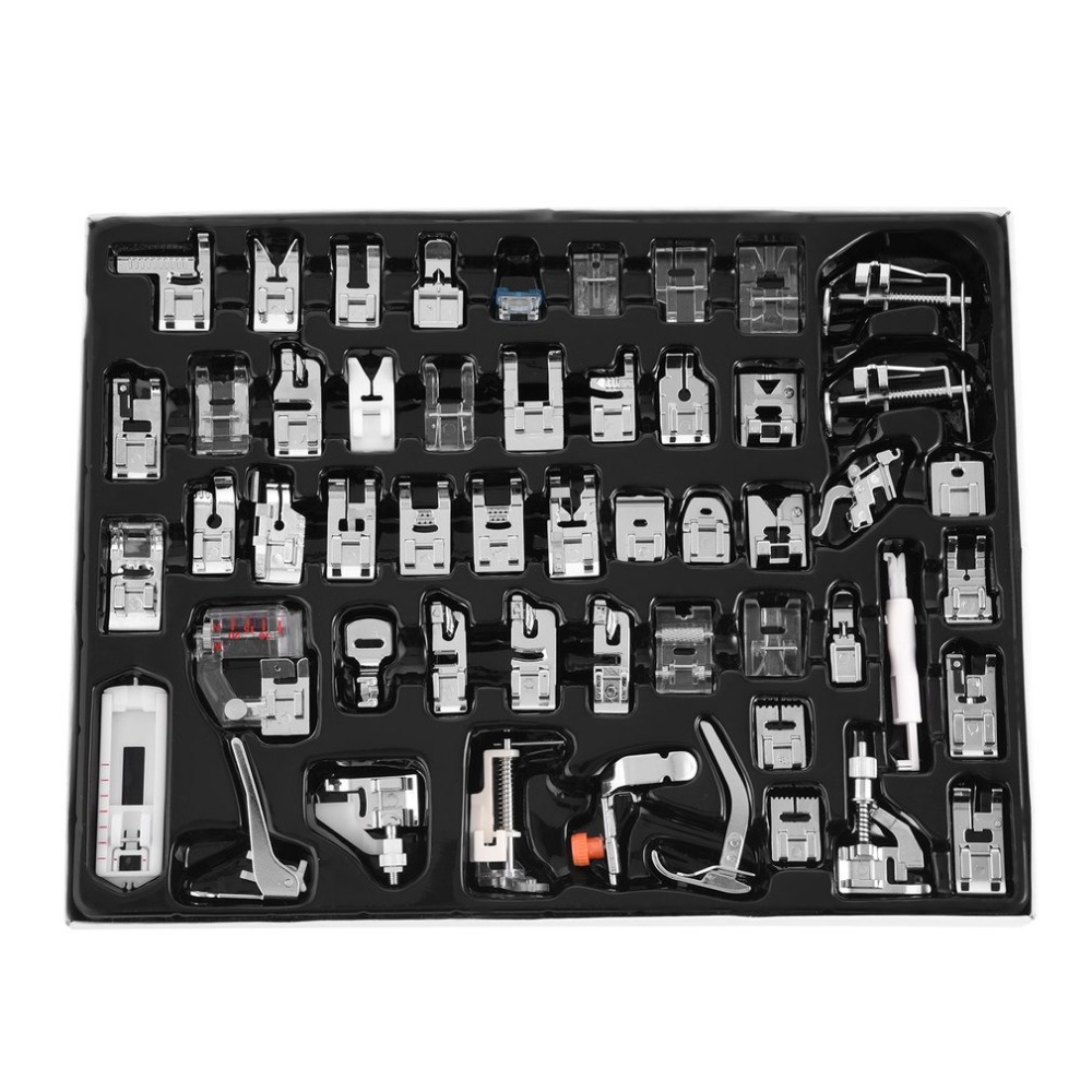 32/42/48/52 Pcs Sewing knitting crochet Domestic Machine Blind Stitch Darning Presser Foot Feet Kit Set For Brother Singer Janom-in Sewing Tools & Accessory from Home & Garden