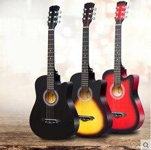 38-inch folk-gitarre männliche und weibliche studenten anfänger eintrag praxis klavier anfänger musikinstrumente log gitarre freies verschiffen