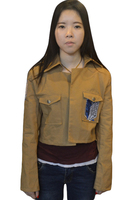 Attack On Titan Jacket Coat Cosplay Shingeki No Kyojin Cosplay Jacket Brown Coat Women Adults Cosplay