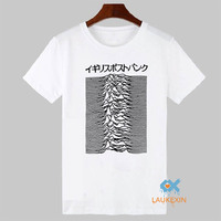 Pulsar Art Used By Joy Division On Unknown Pleasures T Shirt Post Punk Japanese Adult Tees