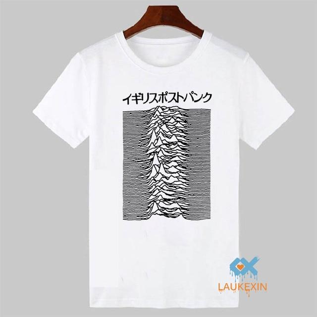 Пульсар искусства используемой джой дивизии на неизвестный удовольствия майка сообщение панк японский тис рубашки из 100% хлопка футболка для мужчин и для женщин