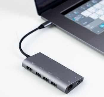 USB C Hub HDMI Adapter for MacBook Pro/Air 2018 HP Dell XPS Inspiron Latitude Lenovo Thinkpad Yoga Acer Asus Dock