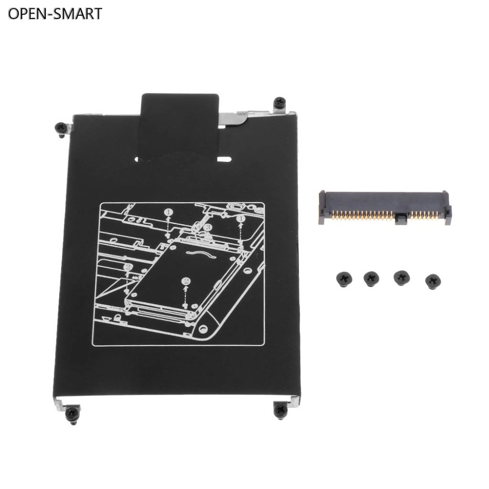 OPEN-SMART HDD Caddy Adapter Hard Drive Disk Interface Bracket SSD Cable Connector Laptop Accessory Screw for HP 820 G1 G2