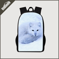 Dispalang 3D zoo animals school bags for boys cute fox wolf school back pack for teenagers girls mochilas 16 inch large bagpack