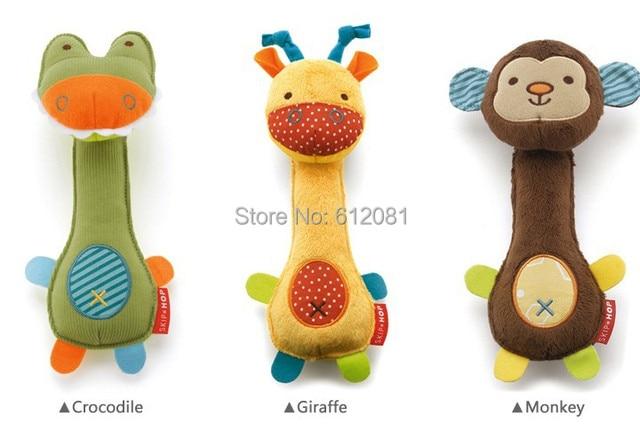 Free shipping pet dog puppy sound toy BB squeaker CE playing plush  toys for pet soft fabric crocodile/Giraffe/monkey 10pcs/lot