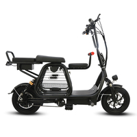 12 inch lithium battery electric bicycle foldable three seat electric bike with pet basket bicycle adult two wheeled scooter