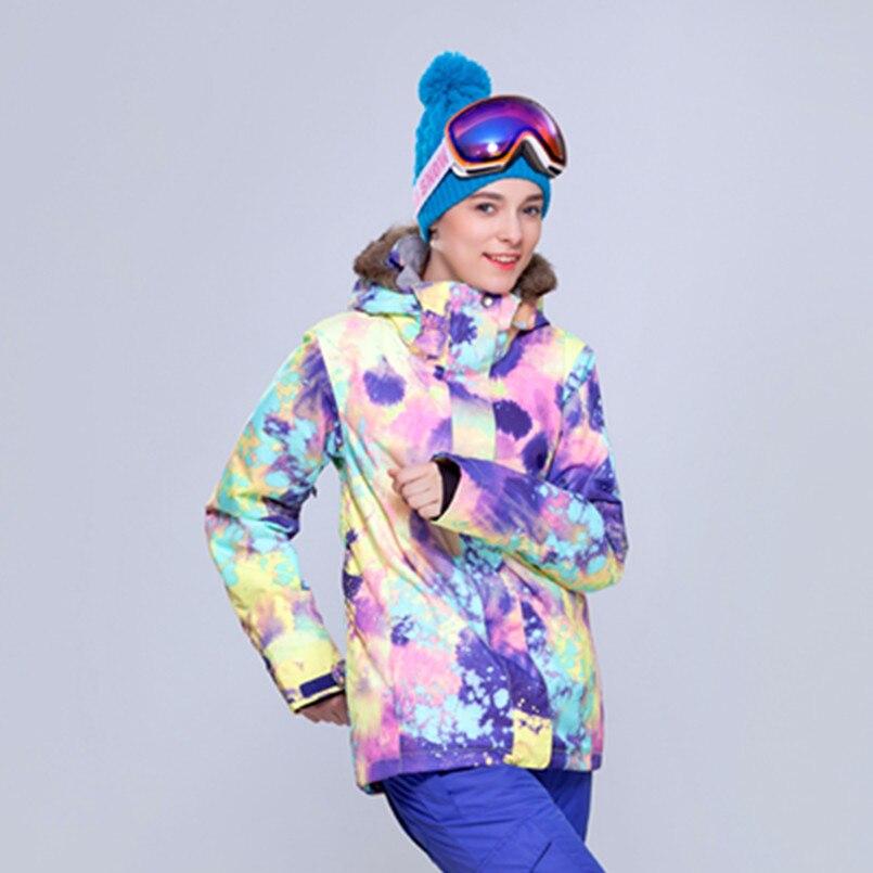Hiver combinaison de ski féminin snowboard veste femmes pantalons de neige ski vestes marques chaquetas mujer tenue de ski femme liquidation