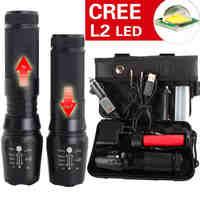 L2 светодиодный Военная Униформа факел X800 фонарик L2 светодиодный военный тактический карманный Электрический фонарик, светодиодный фонари...