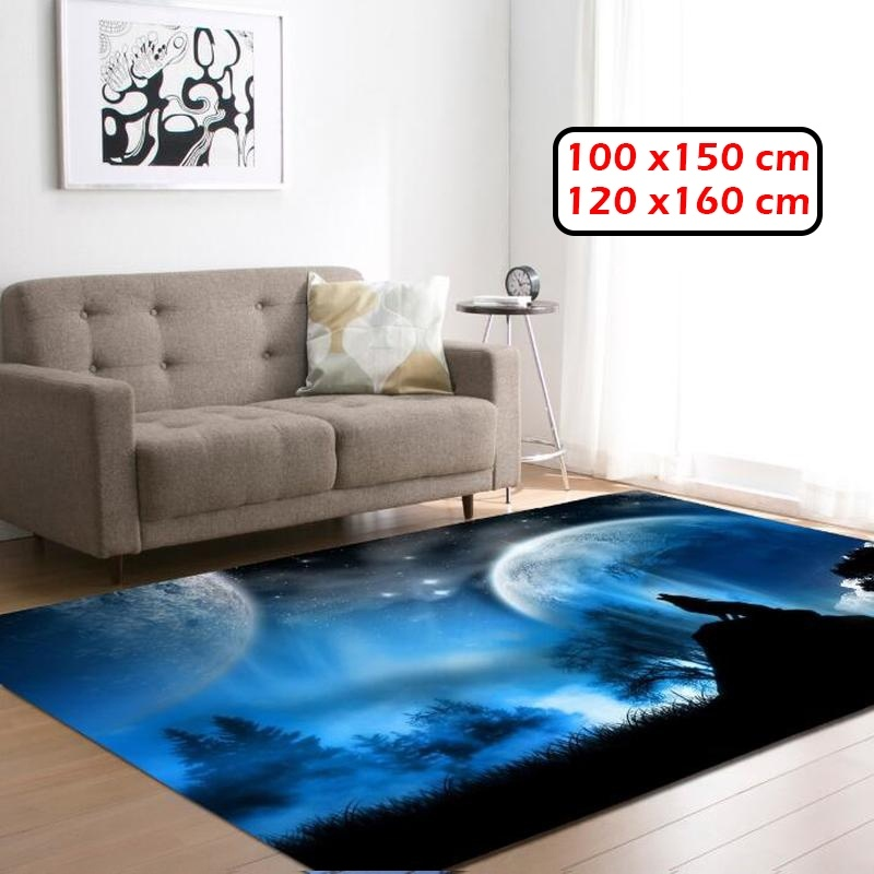 3D Wolf Pattern Carpet For Living Room Non-slip Rectangle Floor Mats Rugs For Bedroom Sofa Yoga Mat Home Decor (7 Styles)