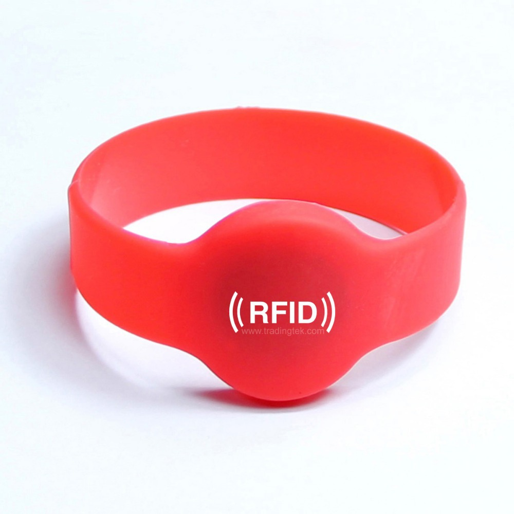 background stock rfid illustration on white bracelet isolated