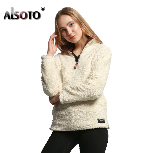 ALSOTO 2018 Women Pullover Oversized Hoodies Harajuku Autumn Winter Warm Sweatshirt Moletom Feminino Hoodie Sudadera