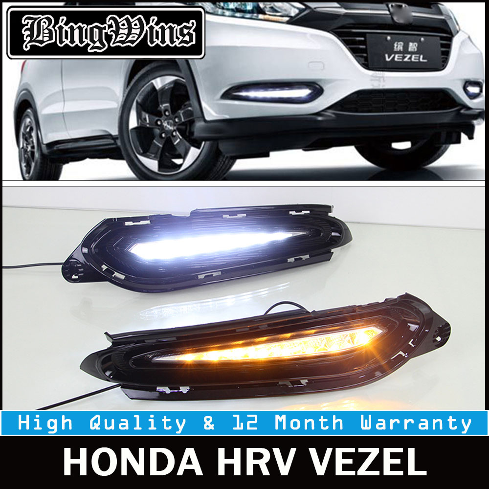 12V Waterproof Car DRL Kit For HONDA HRV Vezel HR-V 2014 2015 2016 LED DRL Daytime Running Light Super Bright Fog Lamp Daylight car drl kit for geely gleagle gx7 2014 led daytime running light bar super bright auto fog lamp daylight car led drl 12v light