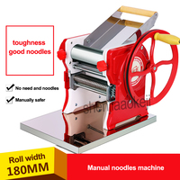 New Household stainless steel pasta machine Pasta Maker Machine Commercial Manual noodles machine 18cm noodle roller width 1pc
