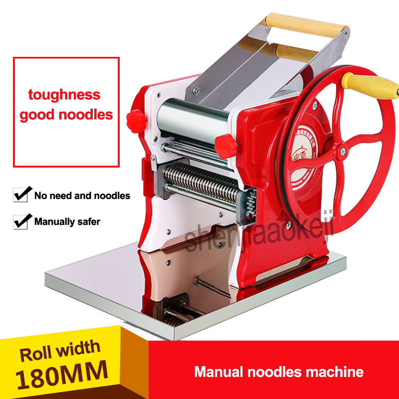 New Household stainless steel pasta machine Pasta Maker Machine Commercial Manual noodles machine 18cm noodle roller width 1pc 35 40kg h commercial pasta machine electric pasta noodle maker machine household noodles machine with best quality